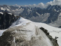Road Three Monts to Mont Blanc 4810m Stock Photos