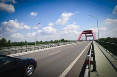 Road thru bridge Royalty Free Stock Image