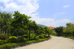 The road of tianzhu resorts hotel Royalty Free Stock Photography