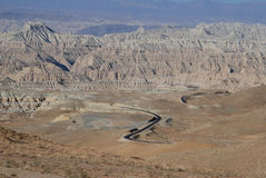 Road in Tibet. The road  from  Lhasa to West-Tibet's Ali  district, or China's 219 national road Stock Photos