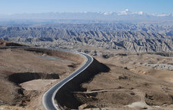 Road in Tibet. The road  from  Lhasa to West-Tibet's Ali  district, or China's 219 national road Royalty Free Stock Photography