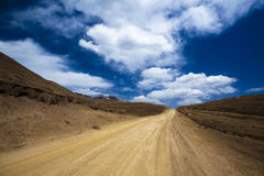 Road on tibet. In gansu gannan China Stock Photography