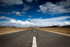 A road in Tibet plateau Stock Photos
