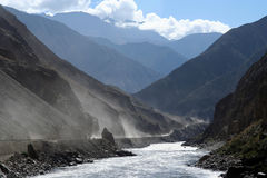 Road from Tibet to Yunnan in China Royalty Free Stock Photography