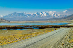 The road on the Tibetan Plateau Royalty Free Stock Image