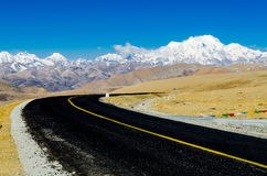 The road on the Tibetan Plateau Stock Image