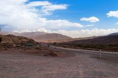 Road in Tien Shan mountains Royalty Free Stock Photo