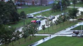 Road Tilt Shift stock video
