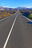 Road in Timanfaya National Park Royalty Free Stock Photography