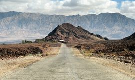 Road in Timna park, Israel Stock Photos