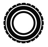 Road tire. Vector black Road tire icon on white background Royalty Free Stock Photography