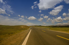 Road on tne plateau Stock Photography