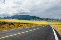 Road on tne plateau Stock Images