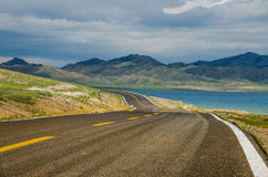 Road on tne plateau Stock Image