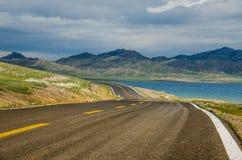 Road on tne plateau Stock Image