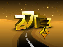 Road to 2013 new year. Royalty Free Stock Photos