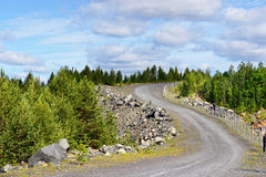 Road to an abandoned mine. Stock Image