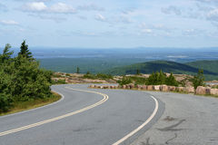 Road to Acadia National Park on Cadillac Mountain Royalty Free Stock Photo