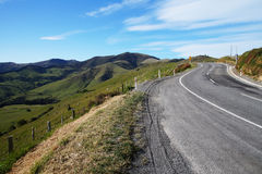 Road to Akaroa, New Zealand Stock Photo
