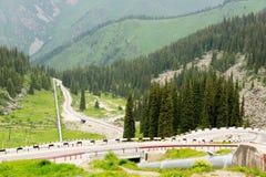 Road to alps Stock Photo