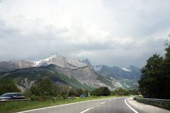 Road to the Alps Stock Photography