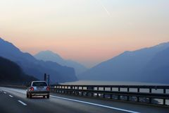 Road to the Alps Royalty Free Stock Photo