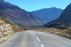 Road to the Alps Stock Image