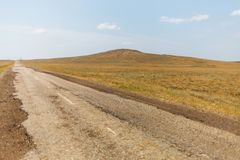 The road to the already inactive volcano royalty free stock images