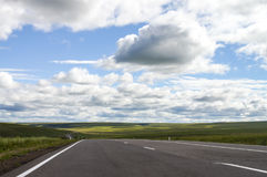 The road. To the amazing place Royalty Free Stock Photography