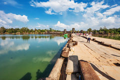 Road to Angkor Wat temple Stock Photography