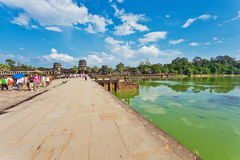 Road to Angkor Wat temple Royalty Free Stock Image