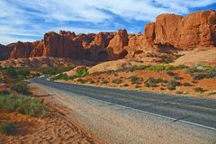 Road to Arches national park Royalty Free Stock Photo