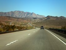 Road to Arizona. Beautiful landscape seen from an american highway royalty free stock photography
