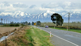 Road to Arthur's Pass. Canterbury, New Zealand royalty free stock images