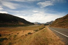 Road to Arthur's Pass National Park Stock Image