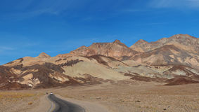 Road to Artist Palette Death Valley Royalty Free Stock Photography