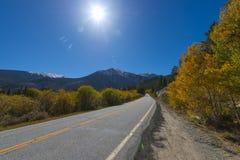 Road To Aspen Colorado in the Autumn Stock Image