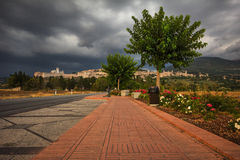 Road to Assisi Royalty Free Stock Photo