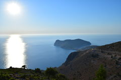 The road to Assos Kefalonia Stock Photography