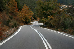 Road to autumn Royalty Free Stock Photos