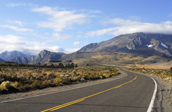Road to Autumn Mountain Scenery. Road in high desert leading to fall mountain scenery Royalty Free Stock Image