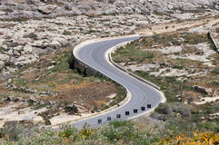 Road to Azure Window at Gozo Island, Malta. Royalty Free Stock Photography