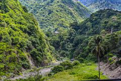 Baguio Philippines Road Trip. The road to Baguio, once you leave the toll road, winds through mountain towns and mining camps. This is just one of the sites and royalty free stock image