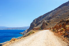 Road to the Balos Lagoon in Crete Royalty Free Stock Photography