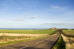 Road to Bamburgh Royalty Free Stock Photos
