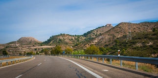 Road to Barcelona. Royalty Free Stock Image