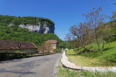 Road to Baume-les-Messieurs Royalty Free Stock Photo