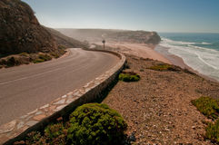 Road to the beach. Road leading to the beach and little village royalty free stock image