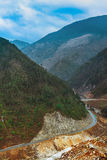 The road to the beautiful nature. (Shangri-La, China Royalty Free Stock Photo