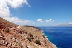 Road to blue lagoon. Crete Stock Photography